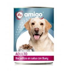 Lata Alimento Perros Bocaditos con Buey, 1230 gr.