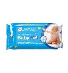 Toallitas húmedas Baby con pegatina 72 unds.