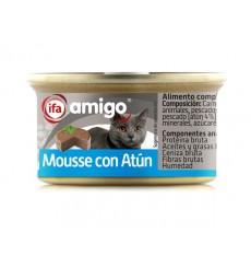 Alimento Gatos mousse atún 24x85 gr,