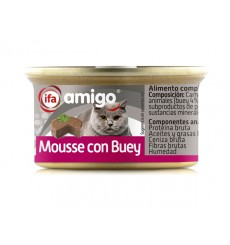Alimento Gatos mousse buey 24x85 gr.