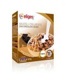 Muesli crujiente con chocolate estuche 500 grs.