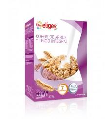 Copos de arroz y trigo integral estuche 375 grs.