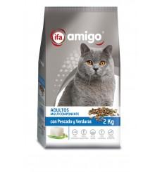 Gatos pescado y vegetales, plastico zip 2 kg