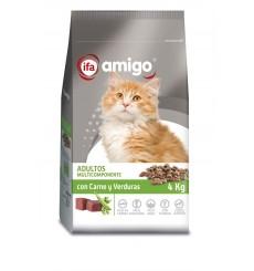 Gatos carne y vegetales, plastico zip 4 kg