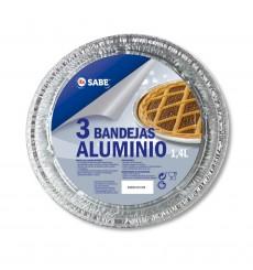BANDEJA ALUMINIO REDONDA 3 UNDS.
