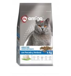 Gatos pescado y vegetales, plastico zip 4kg