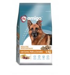 Perro mantenimiento monocomponente carne, pollo y cereales 4 kg.