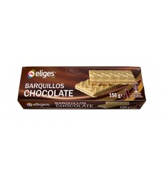 GALLETA BARQUILLO CHOCOLATE PAQUETE 150 GRS.